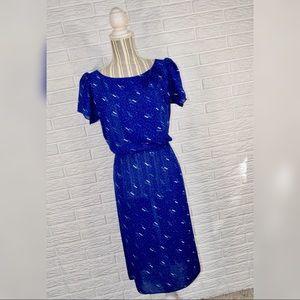 Vtg Charlee Allison for Eljay | Sheer Blue Dress